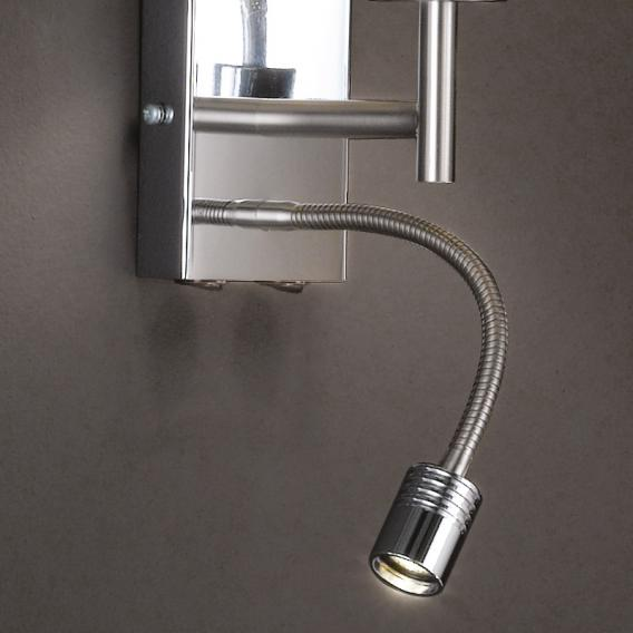 Fischer & Honsel Mainz LED wall light with on/off switch, round