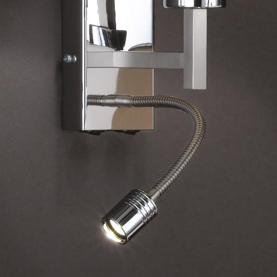 Fischer & Honsel Mainz LED wall light with on/off switch, square