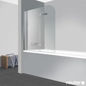 Reuter Kollektion Easy Neu bath screen, 2-piece TSG clear light PerlClean / chrome look