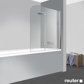 Reuter Kollektion Easy Neu bath screen, 2-piece TSG clear light PerlClean / chrome look