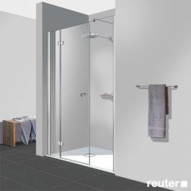 Reuter Kollektion Easy Neu 3 piece door in recess TSG clear light / chrome look