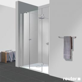 Reuter Kollektion Easy Neu 3 piece door in recess TSG clear light PerlClean / chrome look