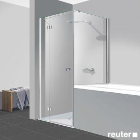 Reuter Kollektion Easy New door with side panel TSG clear light PerlClean / chrome look
