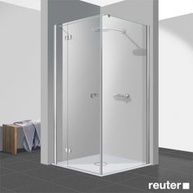 Reuter Kollektion Easy New door with side panel TSG clear light PerlClean / chrome look