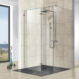 Reuter Kollektion Premium frameless 2 fixed pieces, 1 side panel