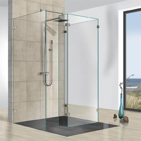 Reuter Kollektion Premium frameless 3 fixed pieces, 1 side panel