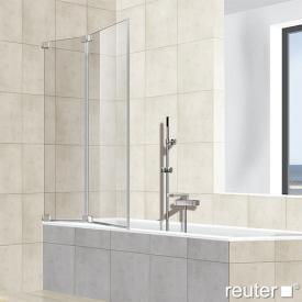 Reuter Kollektion Premium frameless bath screen, 2 piece