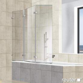 Reuter Kollektion Premium frameless bath screen, 3 piece