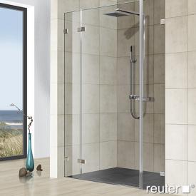 Reuter Kollektion Premium frameless door with fixed parts in niche