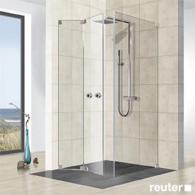 Reuter Kollektion Premium frameless folding door with side panel