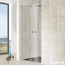 Reuter Kollektion Premium frameless folding door in niche