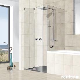 Reuter Kollektion Premium frameless folding door with short side panel