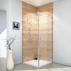 Reuter Kollektion Premium Free corner entry with 2 hinged doors on side part