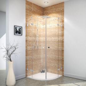 Reuter Kollektion Premium Free round shower hinged door 4-piece