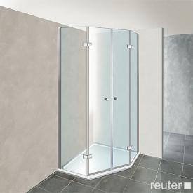Reuter Kollektion Premium pentagonal with 2 pivot doors 100 x 100, door 69 cm