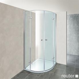 Reuter Kollektion Premium quadrant with 2 pivot doors 80 x 80, radius 50 cm