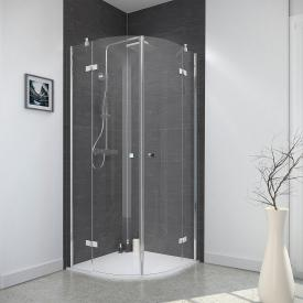 Reuter Kollektion Style round shower hinged door, 4-piece
