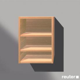 Reuter Kollektion System M01 shelf rack to fill space front textured natural / corpus textured natural