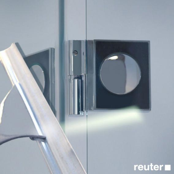 Reuter Kollektion Easy New door with side panel TSG clear light / chrome look