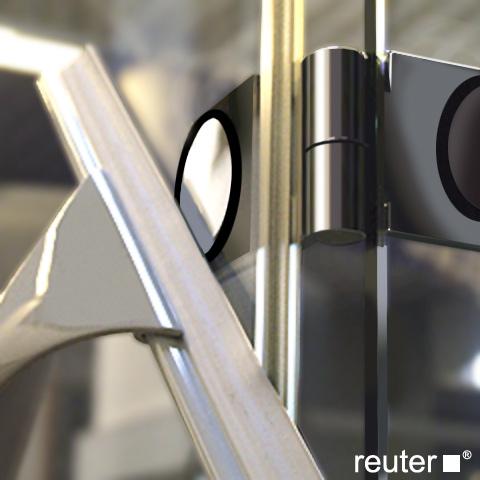 Reuter Kollektion Medium New quadrant with 2 pivot doors chrome/silver high shine STIM 785-800 fixed150