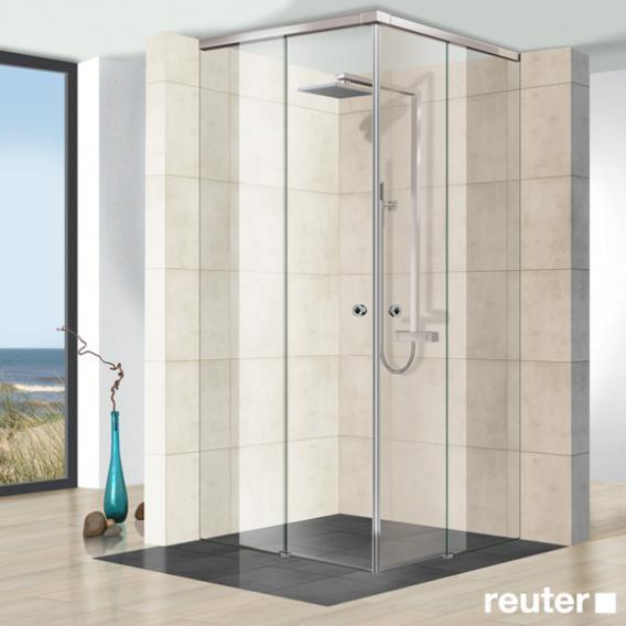Reuter Kollektion Premium frameless corner entry ceiling high W: up to 140/140 H: up to 260 cm