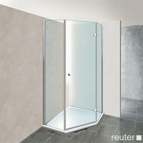Reuter Kollektion Premium pentagonal with 1 pivot door 100 x 100, door 69 cm