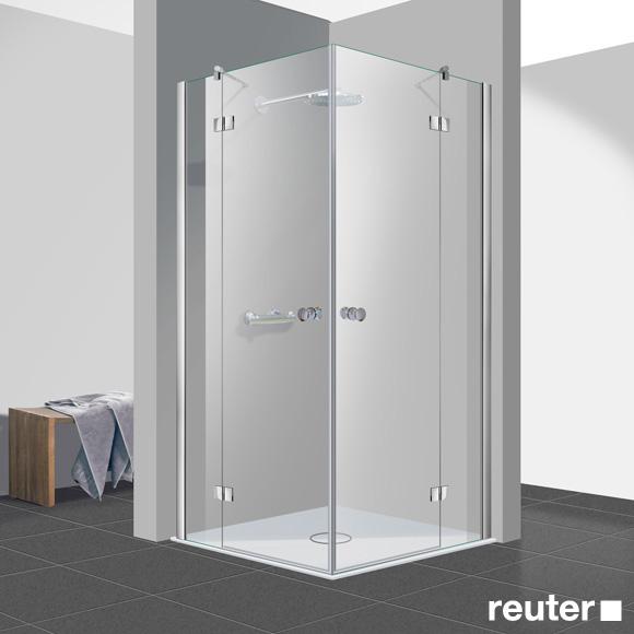 Reuter Kollektion Easy New corner entry TSG light clear / chrome look, STIM 88.5-90.5 cm