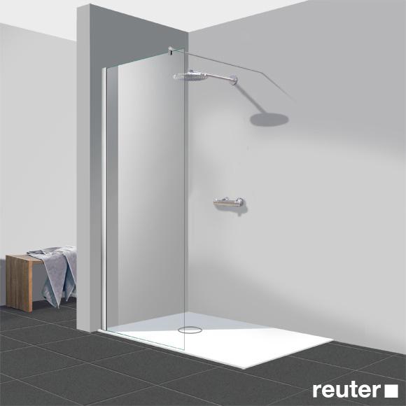Reuter Kollektion Easy New walk in straight element TSG light clear Perl Clean / chrome look