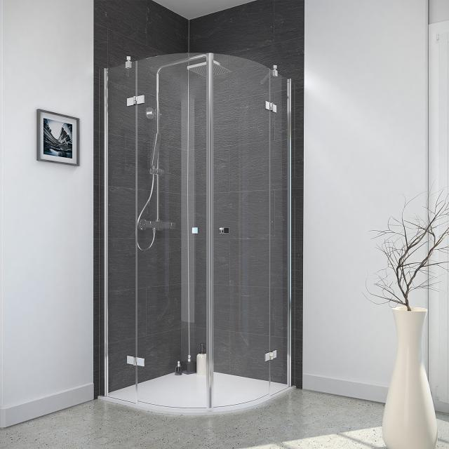 Reuter Kollektion Style round shower hinged door, 4-piece