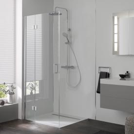 HSK Aperto swinging hinged door on additional part TSG light clear with shield coating / chrome look