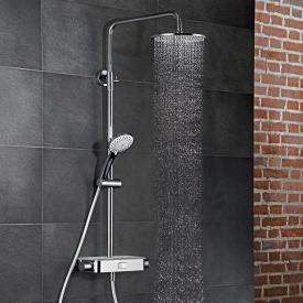 HSK AquaSwitch RS 200 Colonne de douche thermostatique avec douche de tête plate blanc