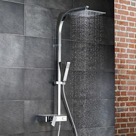 HSK AquaSwitch RS 500 Mix Colonne de douche avec mitigeur monocommande et douche de tête plate blanc