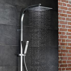 HSK AquaSwitch RS 500 thermostat shower set with flat overhead shower black