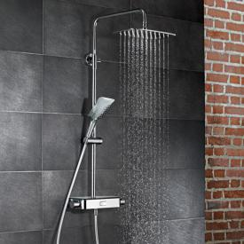HSK AquaSwitch Softcube exposed thermostic shower system white glass