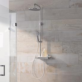 HSK AquaTray RS 200 thermostat shower set with flat overhead shower