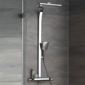HSK AquaTray thermostat shower set with overhead shower with cascade