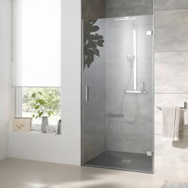 HSK Atelier Plan Pur hinged door for recess TSG light clear with shield coating / chrome look
