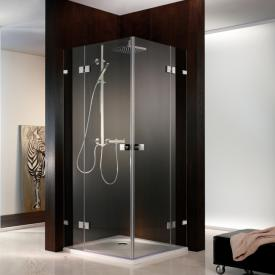 HSK Atelier Pur two-way hinged door, corner entry 4-part TSG light clear / chrome look