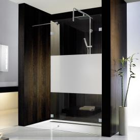 HSK Atelier Pur Walk In glass element with side part TSG matt centre with shield coating / chrome look