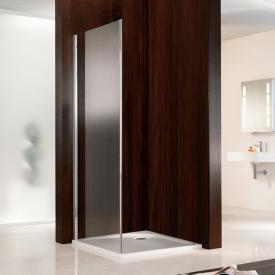 HSK Atelier side panel for two-way door with fixed panel TSG light clear with shield coating / chrome look