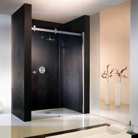 HSK Atelier sliding door in recess TSG clear light / chrome look
