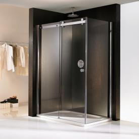 HSK Atelier sliding door with side panel TSG clear light shield / chrome look
