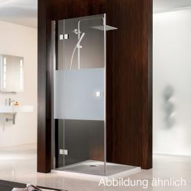 HSK Atelier two-way hinged door with side part for side panel clear light / chrome
