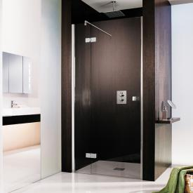 HSK Atelier two-way hinged door with fixed panel for recess TSG light clear / chrome look