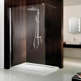 HSK Atelier Walk In front element TSG light clear with shield coating / chrome look