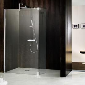 HSK Atelier Walk In front element with hinged side part TSG light clear with shield coating / chrome look