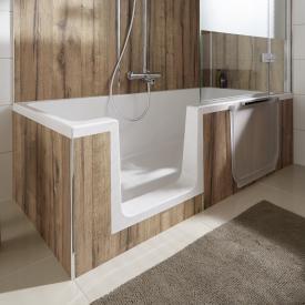 HSK Dobla rectangular bath with shower zone