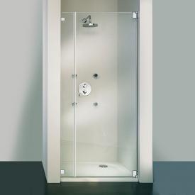 HSK Edition Kienle hinged door in recess TSG clear light shield / chrome