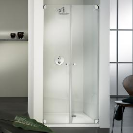 HSK Edition Kienle pivot door for recess TSG light clear with shield coating / chrome look