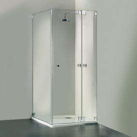 HSK Edition Kienle pivot door with fixed panel and side panel TSG light clear / chrome look